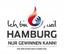 Ich bin Feuer und Flamme, weil Hamburg nur gewinnen kann – Logo
