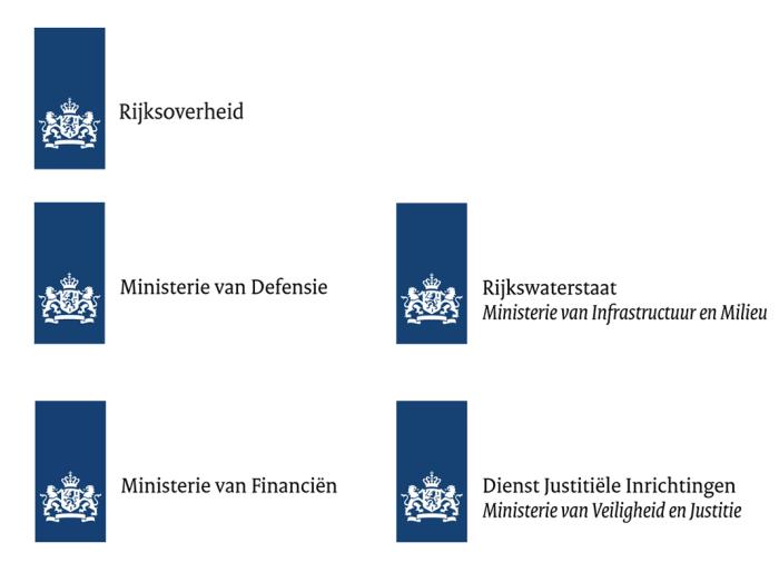 Regierung Niederlande – Logos der Ministerien