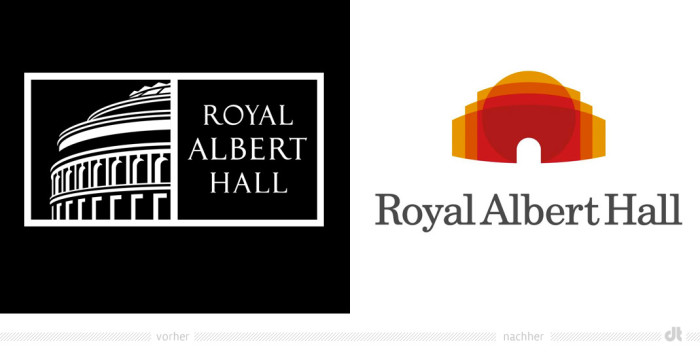 Royal Albert Hall Logo – vorher und nachher