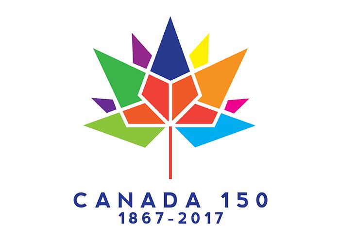 Logo 150 Jahre Kanada, entworfen von Ariana Cuvin Quelle: Kanadische Regierung