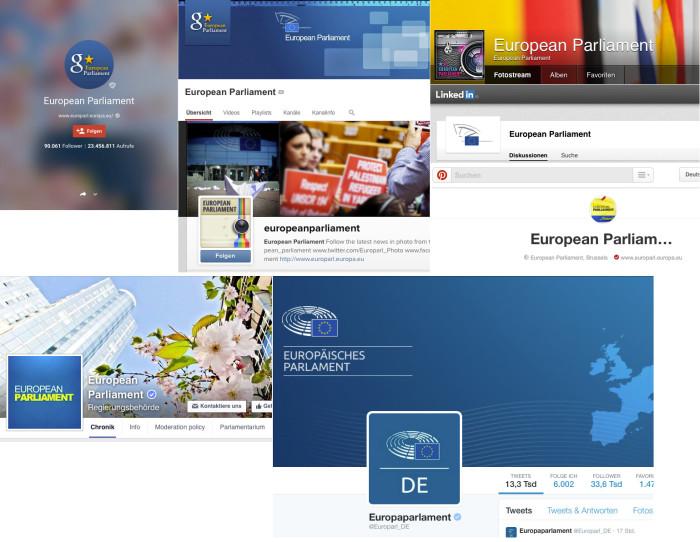 aktuelle Logos/Absender des Europaparlaments (04/2015)