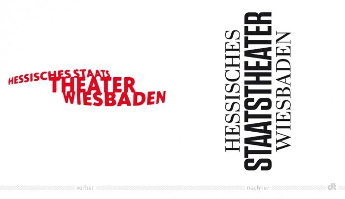 Hessisches Staatstheater Wiesbaden – Logo vorher und nachher
