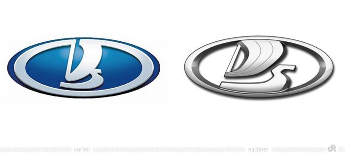 Lada Logo – vorher und nachher
