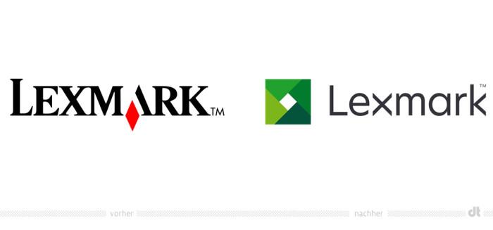Lexmark Logo – vorher und nachher