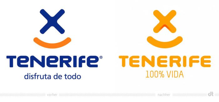 Teneriffa Logo – vorher und nachher
