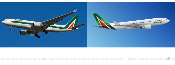 Alitalia Livery – vorher und nachher
