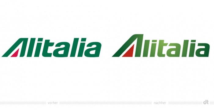 Alitalia Logo – vorher und nachher