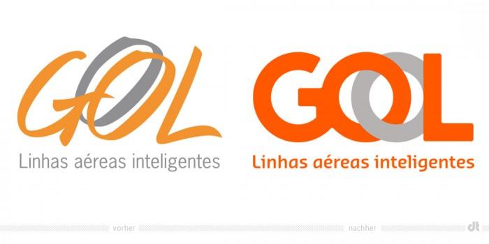 GOL Logo – vorher und nachher