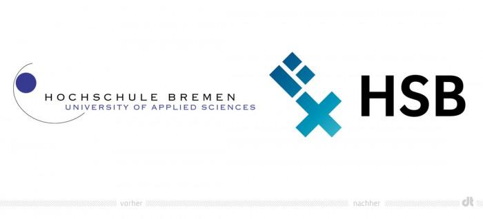 Hochschule Bremen Logo – vorher und nachher