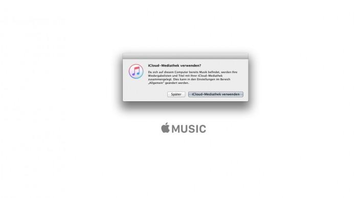 iTunes Interface – iCloud-Mediathek