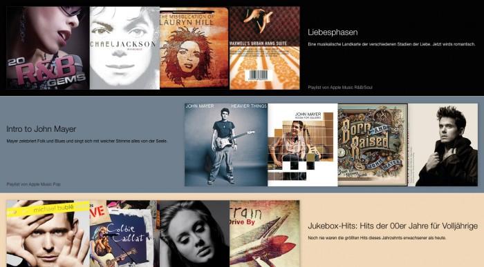 iTunes Interface – Für dich