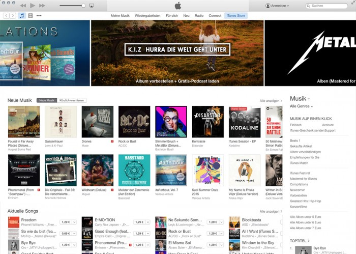 iTunes 12 Interface