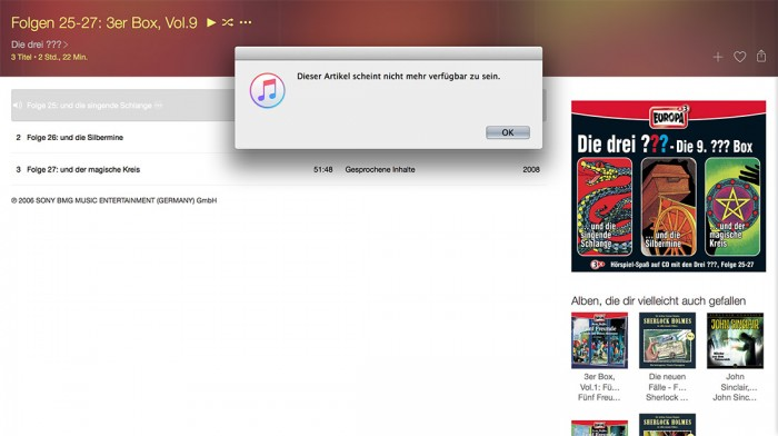 iTunes – Die drei ???