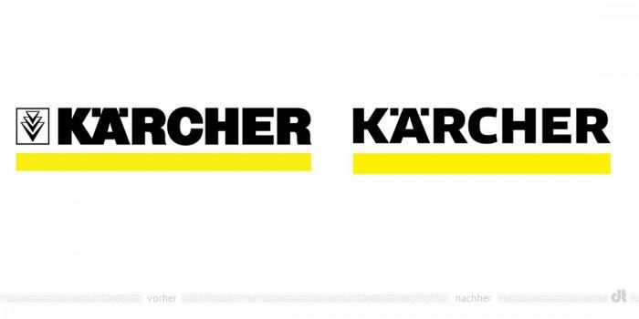 Kärcher Logo – vorher und nachher