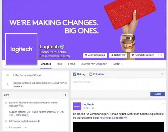 Logitech auf Facebook