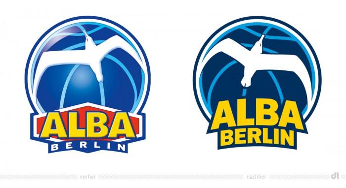 ALBA BERLIN Logo – vorher und nachher