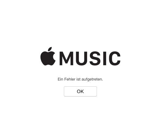 Apple Music Fehler