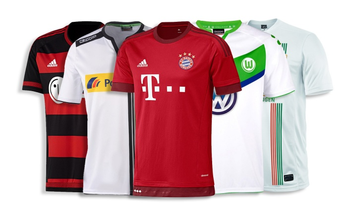 Bundesliga Heimtrikots 2015/2016