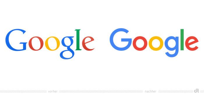 Google Logo – vorher und nachher