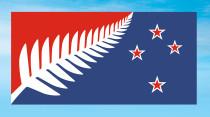 Neuseeland Flagge – Silver Fern (Kyle Lockwood)