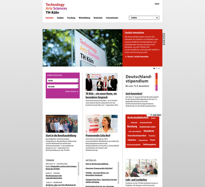 TH Köln Website