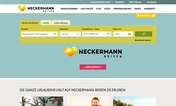 Neckermann Reisen Website