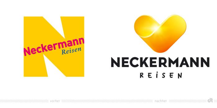 Neckermann Reisen Logo – vorher und nachher