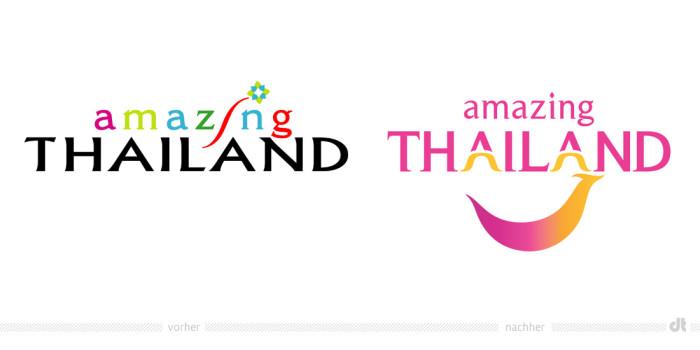 Amazing Thailand Logo – vorher und nachher