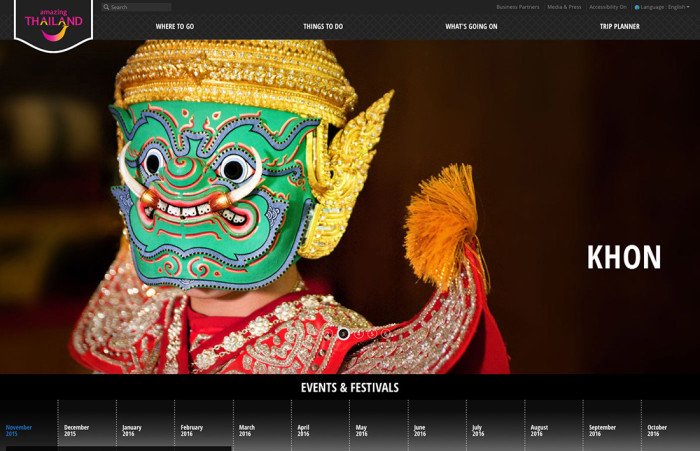 Amazing Thailand Website