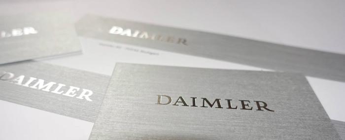 Daimler Unternehmenszeichen Heißfolie