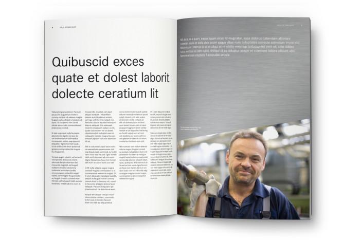 Daimler Corporate Design – Broschüre Innenseiten