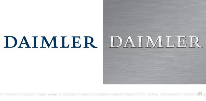 Daimler Logo – vorher und nachher