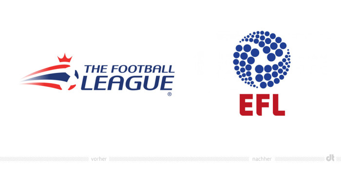 EFL English Football League Logo – vorher und nachher