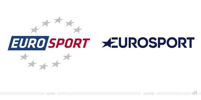 Eurosport Logo – vorher und nachher