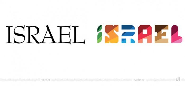 Israel Tourismus Logo – vorher und nachher