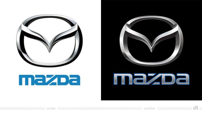 Mazda Logo – vorher und nachher