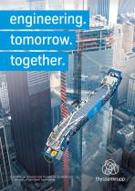 Poster: Fahrtreppen-Installation im oneWTC, New York Quelle: Thyssenkrupp