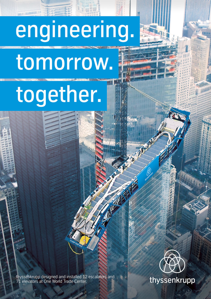 Thyssenkrupp Cover – engineering.tomorrow.together. Quelle: Thyssenkrupp