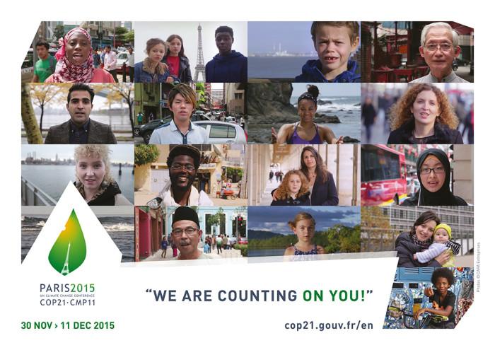 "UN-Klimakonferenz 2015 – Poster ""We Are Counting On You""5 Quelle: cop21.gouv.fr"