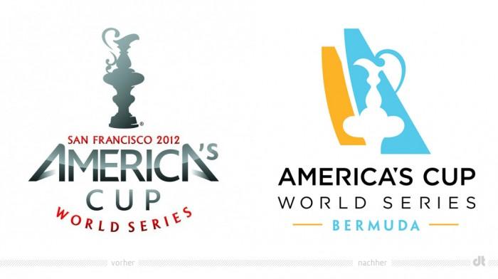 America's Cup 2017 Bermuda Logo – vorher und nachher