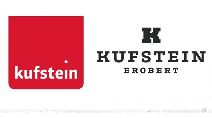 Kufstein Logo – vorher und nachher
