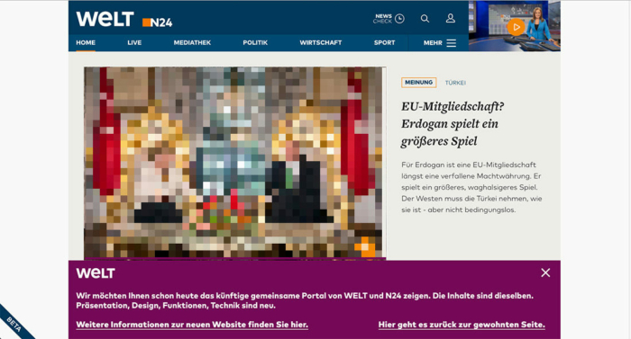 welt n24 Website