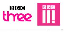 BBC Three Logos – vorher und nachher