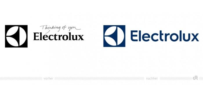 Electrolux Logo – vorher und nachher