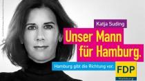 """Plakat Katja Suding """"Unser Mann für Hamburg"""""""
