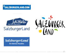 Salzburger Land Logo – vorher und nachher