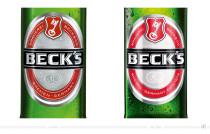 Beck's Pils Etikett – vorher und nachher