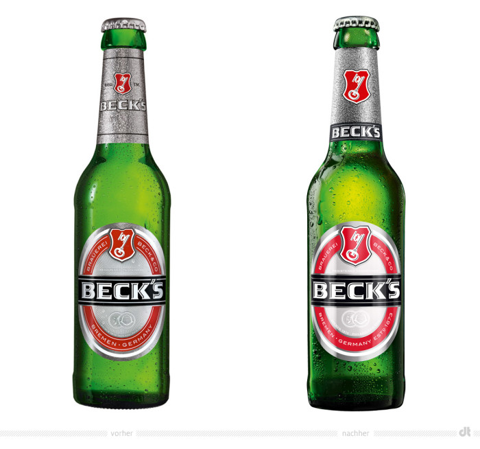 Beck's Pils Flasche 0,3l – vorher und nachher