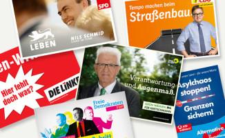 Landtagswahl Baden-Württemberg 2016 Plakate