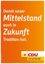 Landtagswahl Baden-Württemberg 2016 – Themenplakat CDU